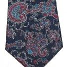 Bert Pulitzer Silk Necktie Mens Tie Classic Paisley Blue Raspberry Aqua Silver Designer Fashion