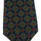 Christian Dior Monsieur Italian Silk Necktie Mens Designer Tie Classic Blue Crimson Gold Aqua