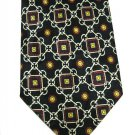 Classic Italian Silk Nectie Viva Mens Tie Black Cream Red Gold Chain Hand Made