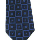 Robert Talbott Silk Necktie Mens Tie Extra Long 60 Mod Squares Dark Blue Royal Best Of Class