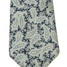 Guy Laroche Vintage Italian Silk Necktie Blue Gray Paisley Mens Tie Designer Fashion