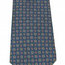 Paco Rabanne Paris Silk Necktie Italy Mod Blue Aqua Circles Yellow Fuschia Mens Tie