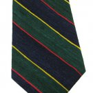 Striped Woven Silk Necktie Tango Max Raab Italian Silk Mens Tie Green Blue Red Yellow