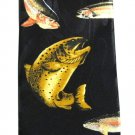 Steven Harris Fish Necktie Mens Tie Black Gold Novelty Fishing Outdoors 57.5