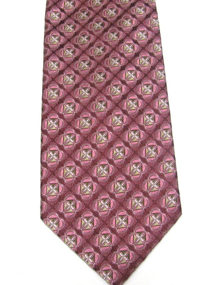 JZ Richards Silk Necktie Mens Designer Tie Shimmer Pride Cranberry Rose Pink Tan 58 inch