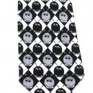 Weepul Necktie Mens Novelty Tie Fuzzy BIPO Wuppet Black Gray White Checker 58 Inch