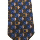 Robert Talbott Silk Tie Mens Designer Tie Best Of Class Shiny Modern Yellow Blue Brown 59