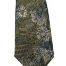 Bill Blass Silk Necktie Mens Tie Paisley Flower Tan Gold Green Classic Designer 56