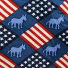 Democrat Necktie Mens Tie Donkey Politics Support Vote Red White Blue Flag Silk 56