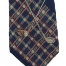 Nautica Silk Tie Mens Necktie Golf Plaid Caddy Clubs Embroidery Old School Classic 58
