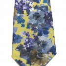 Pansies Necktie Mens Tie Essex Vintage Polyester Watercolor Yellow Blue Purple 56