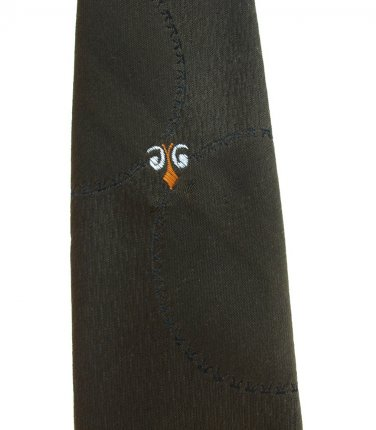 Vintage Skinny Tie Dacron Dark Olive Green 50s Necktie Mad Men Fashion 52
