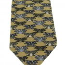J Garcia Tie Mens Silk Necktie Alien Spaceship Mod Abstract Tan Blue Green Funky 57