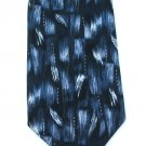 Pierre Cardin Silk Tie Mens Necktie Blue Black Abstrast Brush Strokes Paint Basketweave 58