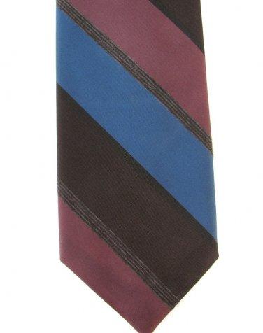 Wembley Vintage Skinny Tie Mens Necktie Classic Broad Stripe Brown Blue Rose 50s 55