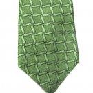 Nordstrom Silk Tie Mens Necktie Lime Green Woven Dots Trellis Classic 59