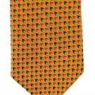 Randa Vintage Necktie Retro Mod Mens Tie Arrow Check Gold Mustard Black Red 50s Fashion 57