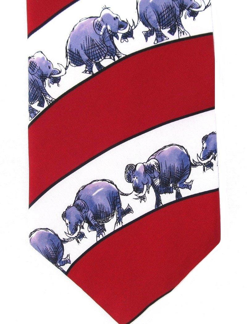 Elephant Necktie Republican Party Tie Politics Vote Support GOP Stars Patriotic Luckovich 57