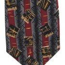 Gianfranco Italian Silk Necktie Extra Long Tie 61 Mod Gray Black Maroon Stripe Boxes