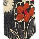 Ermenegildo Zegna Italian Silk Necktie Mens Long Tie Woven Mod Flower Black Cream Red Abstract 59