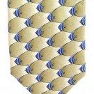 Bannerfish Neck Tie Mens Silk Nature Conservancy Fish Gold Blue Fishing Preservation Ltd Edition  58