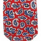 American Living Extra Long Silk Neck Tie Red Paisley Red White Blue Small Pattern Classic Fashion 61