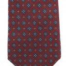 Harley's Shorewood Vintage Neck Tie Mens Classic Foulard Small Print Blue Dark Crimson 56