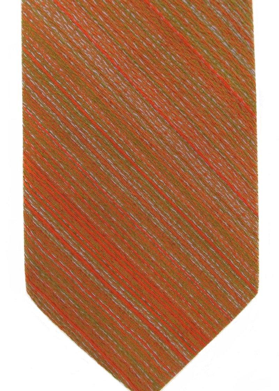 Wembley Vintage Neck Tie 60s Mod Orange Green Pink Narrow Stripe Funky Wemlon 53