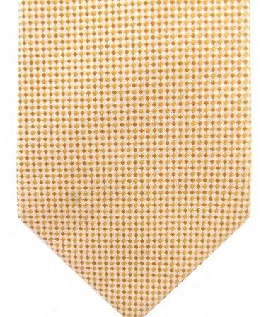 Geoffrey Beene Woven Silk Tie Gold Yellow Pindot Iridescent Luxury Classic 59