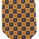JZ Richards Nordstrom Silk Tie Extra Long 60 Woven Quilted Gold Blue Geometric Squares