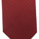 Daniel De Fasson Extra Long 60 Woven Silk Necktie Tie Red Black Pindot Classic Designer Luxury