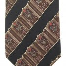 Metropolitan Museum Of Art Silk Necktie Narrow Tie Art Nouveau MET Black Gold Wide Stripe