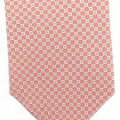 Harold Powell Extra Long 60 Silk Necktie Tie Pink Yellow Mod Dots Blue Fowlard Luxury