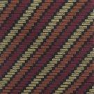 Roundtree Yorke Mens Necktie Italian Silk Tie 58 Zig Zag Stripe Gold Black Maroon Copper