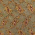 JZ Richards Silk Necktie Long Mens Tie 59.5 Jacquard Olive Green Scroll Gold Luxury Quality