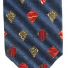 Roundtree Yorke Mens Necktie Italian Silk Long 59 Tie Blue Ocean Iridescent Diamond Red Green