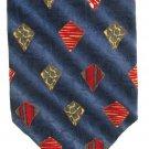 Roundtree Yorke Mens Necktie Italian Silk Long 59 Tie Blue Ocean Iridescent Diamond Red Green