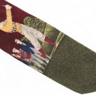 Golf Necktie Robert Talbott Hand Sewn Silk Tie Long Mens Classic Old School Golfer Green Maroon 59.5