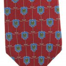 Picone Necktie Silk Mens Tie Crimson Red Blue Art Nouveau Woven Classic Luxury 57.5