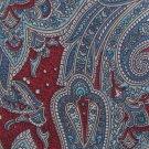 Harolds Paisley Silk Necktie Classic Fashion Tie Crimson Aqua Teal Blue Luxury Fashion 57