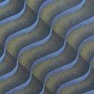 Murano Italia Silk Necktie Mens Tie Designer Blue Green Funky Wave Iridescent 57