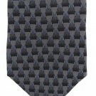 "Louis Roth Necktie 59"" Italian Techno Industrial Black Gray Blue Locks Connectors 58"