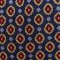 Jos A Bank Silk Necktie Silk Jacquard Blue Gold Red Medallion Luxury Designer Tie