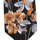 Floral Silk Necktie Stonehenge Cocktail Colors Metallic Black Silver Gold Copper Long 59
