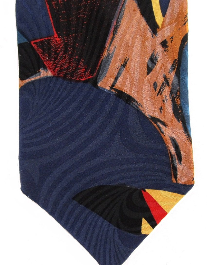 Hanover Street Vintage Necktie Mod Abstract Colorful Funky Tie Red Blue Yellow Black 56.5