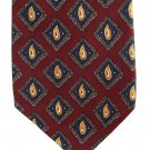 Bespoke Italian Silk Necktie Extra Long 60 Classic Paisley Dark Crimson Red Gold Blue Green