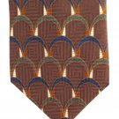 Heritage Etienne Aigner Vintage Necktie Tie Italian Silk Brown Green Blue Thumbnail Mod