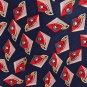Adolfo Italian Silk Necktie Tie Geometric Diamond Kite Blue Yelow Red Green Tan 58