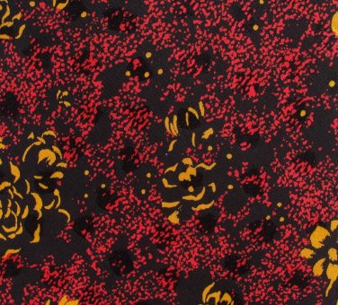Brioni Italy Silk Necktie Tie Dark Red Black Yellow Roses Flower Gold Chain Long 59.5 Long