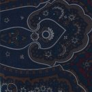 Hill Archer Extra Long Italian Silk Necktie Tie 61 Large Paisley Executive Brown Navy Blue Maroon